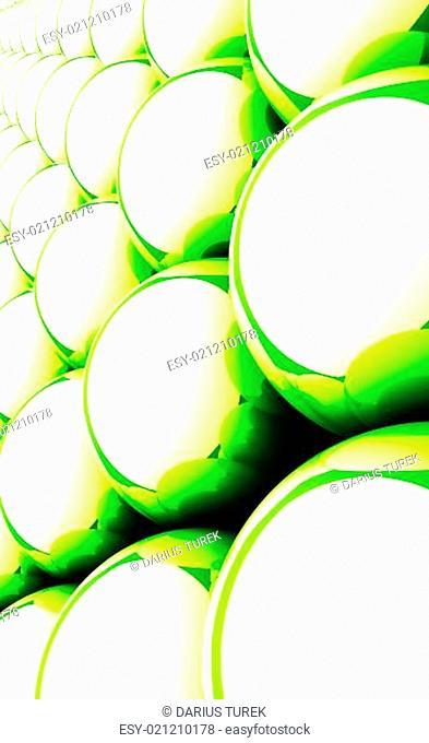Green reflection balls background 08