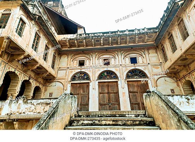 Mandawa Castle, Jhunjhunu, Shekhawati, Rajasthan, India, Asia