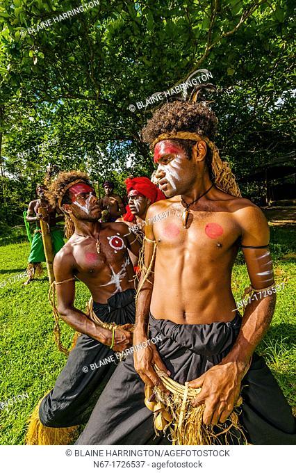 Wetr tribal dancers, Hnathalo, Lifou island, Loyalty Islands, New Caledonia