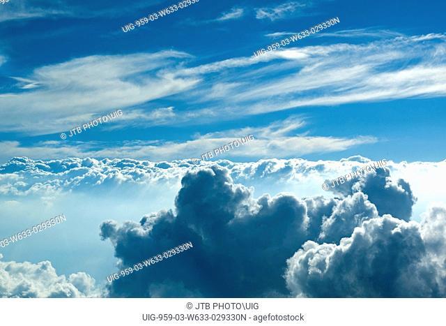 Aerial view of Heavens, vast ocean of clouds