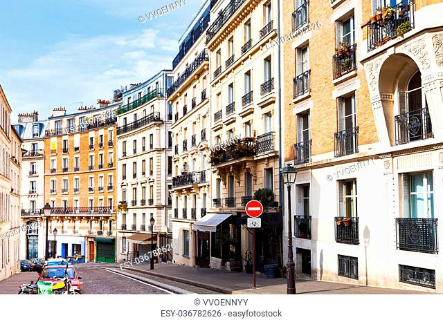 Rue Lepic is an ancient road in the commune of Montmartre, Paris