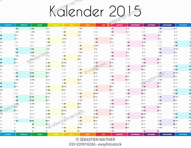 Kalender 2015 - GERMAN VERSION
