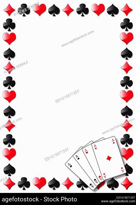 Kartensymbole als Rahmen