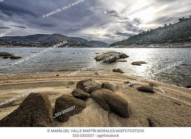 Clouds over Burguillo reservoir. Avila. Spain. Europe
