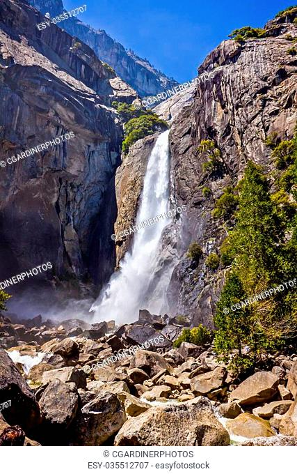 Scenic View of Lower Yosemite Falls