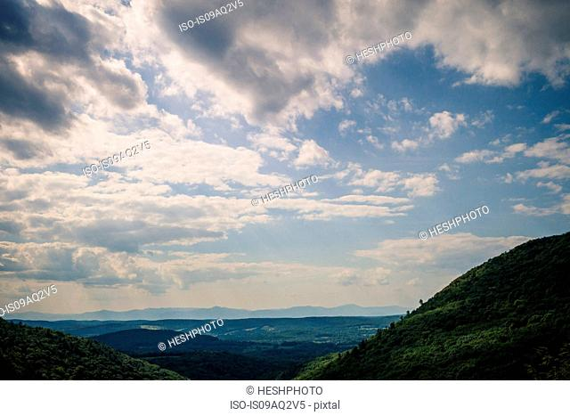 Landscape of a valley in New England, Berkshire County, Massachusetts, USA
