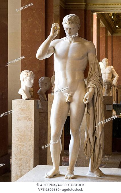 Funeral and honorific statue of Marcellus, nephew and first son of Augustus. . 20 before JC. Greec Marble