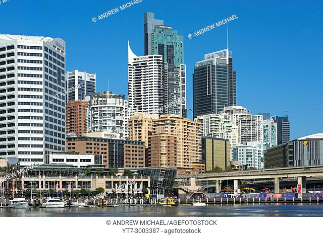 Cockle bay at Darling Harbour, Sydney city centre, New South Wales, Australia