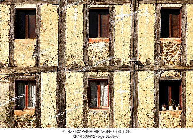 Windows of the 'venta' of Iturriotz, Aya, Guipuzcoa, Basque Country, Spain