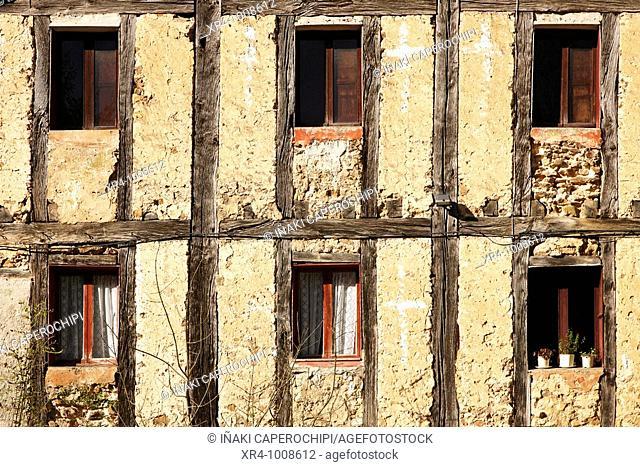 Windows of the 'venta' of Iturriotz, Aya, Guipuzcoa, Basque Country, Spain