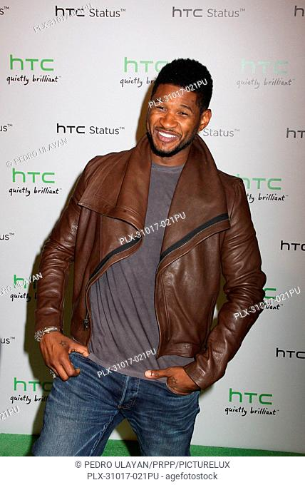 Usher at the HTC Status Social Launch Event held at the Paramount Studios in Hollywood, Ca on Tuesday, July 19, 2011. Photo by Pedro Ulayan-Pacific Rim Photo...