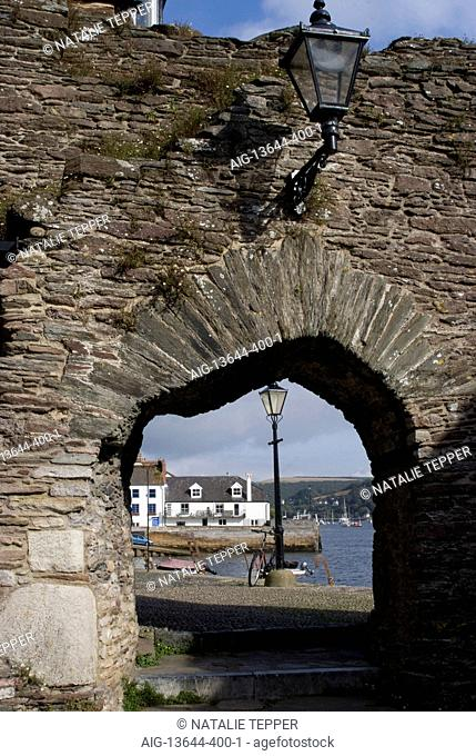 Remains of Bayard's Cove Fort, a Tudor artillery battlement, Dartmouth, Devon, UK