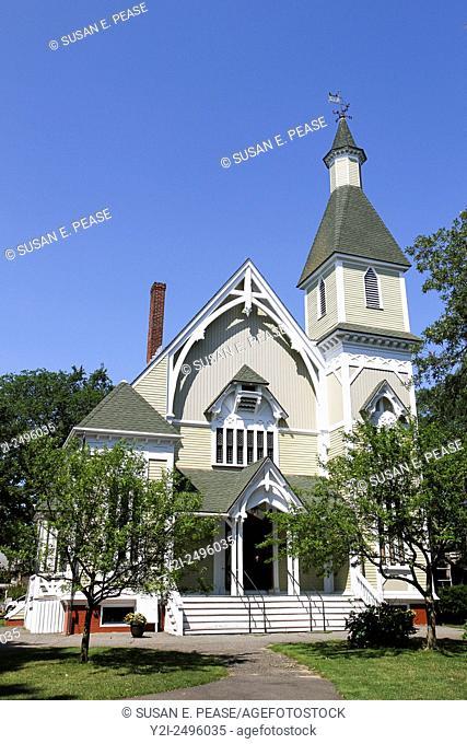 Trinity Methodist Church, Oak Bluffs, Martha's Vineyard, Massachusetts, USA