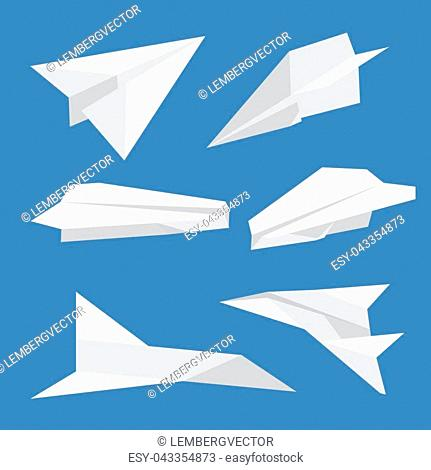 White Origami Paper Bird On A Blue Background Stock Photo ... | 470x431