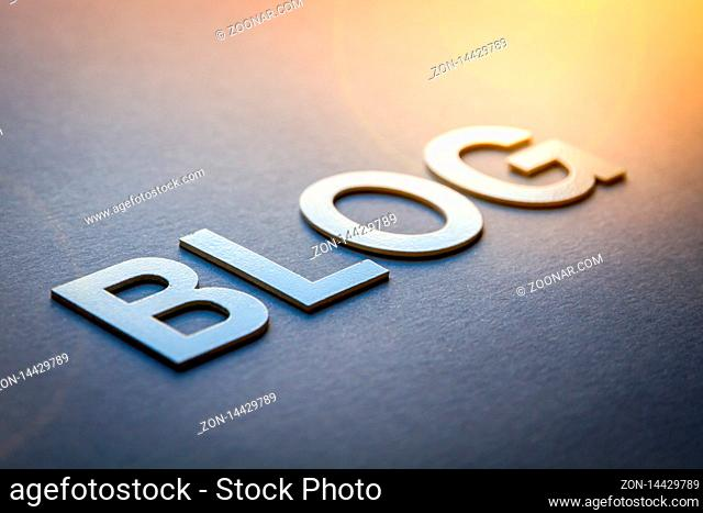 Word blog written with white solid letters on a board