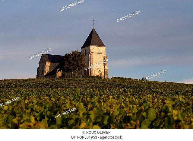 CHURCH OF CHAVOT COURCOURT, CHAMPAGNE REGION, (51) MARNE, EASTERN FRANCE