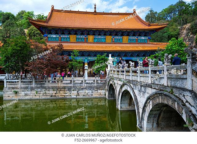 Yuantong Buddhist Temple, Kunming, Yunnan, China, Asia