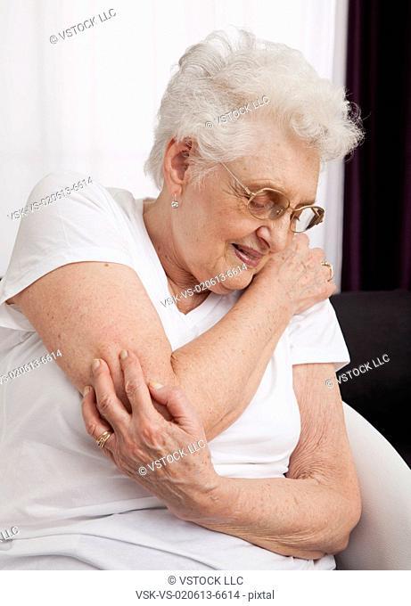 Senior woman in pain