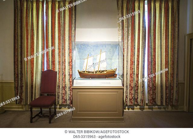 Canada, Nova Scotia, Louisbourg, Fortress of Louisbourg National Historic Park, Ordonnateur's Residence, interior