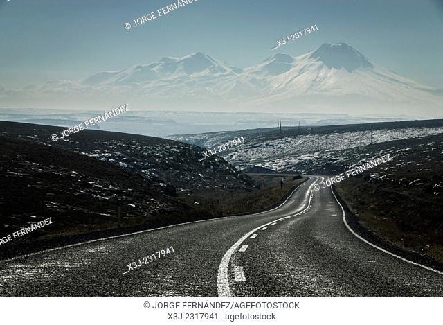Road leading to Capadocia, Turkey, Asia