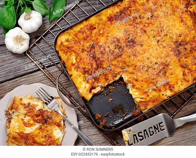 Lasagna serving