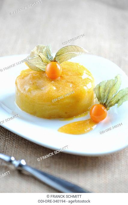 Mango and passion fruit bavarian