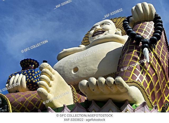 Laughing Buddha, Buddhist temple Wat Plai Laem, Koh Samui, Thailand