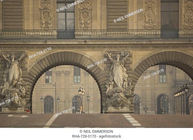The Louvre from Pont du Carrousel, Paris, France
