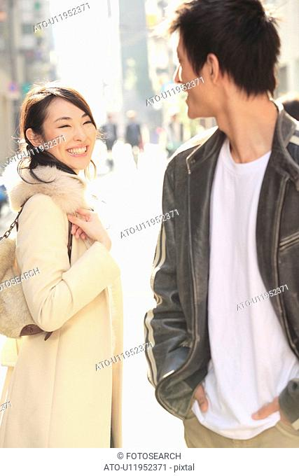 Japanse young gazing each other