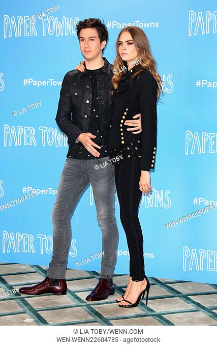 Paper Towns UK photocall - Arrivals Featuring: Cara Delevingne, Nat Wolff Where: London, United Kingdom When: 18 Jun 2015 Credit: Lia Toby/WENN.com