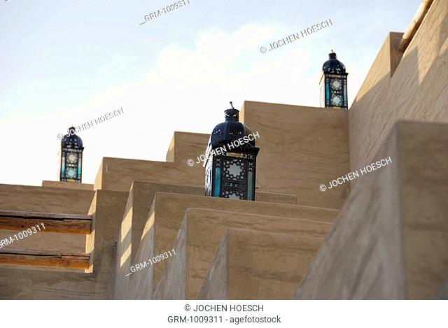 Traditional Arabian lanterns in Bab Al Shams, near Dubai, UAE