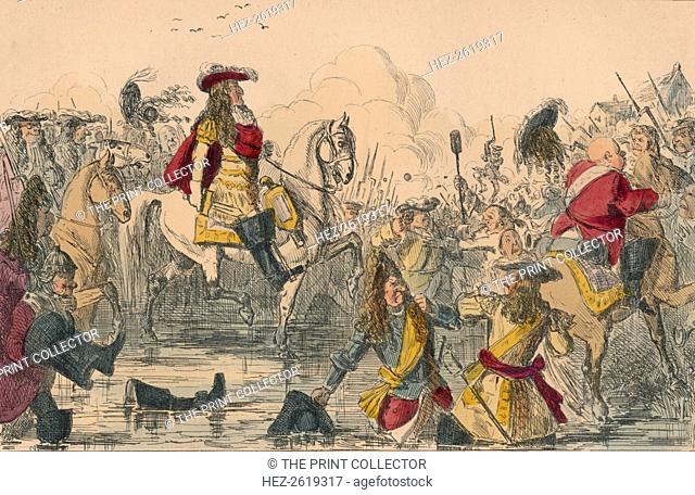 The Battle of the Boyne, 1850. Artist: John Leech