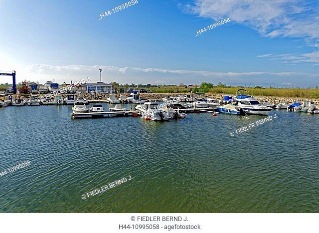 Ebro delta, fishing port, sports boat harbour