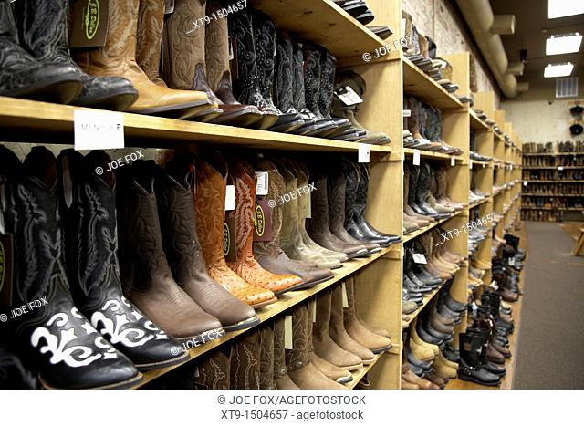 cowboy boots for sale in a store in Nashville Tennessee USA