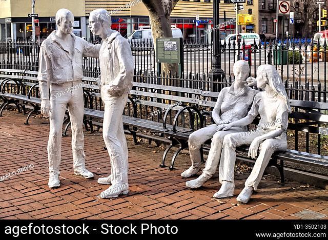 New York. Manhattan. Gay Liberation Monument. West Village
