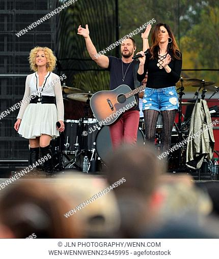 1st annual Kiss 99.9 Chilli Cookoff at CB Smith Park Featuring: Kimberly Roads Schlapman, Jimi Westbrook, Karen Fairchil of Little Big Town Where: PEMBROKE...