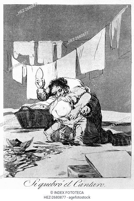 Los Caprichos, series of etchings by Francisco de Goya (1746-1828), plate 25: 'Si quebró el cánta?