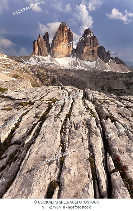 Tre Cime di Lavaredo, Sexten dolomites, Trentino-Alto Adige, Italy