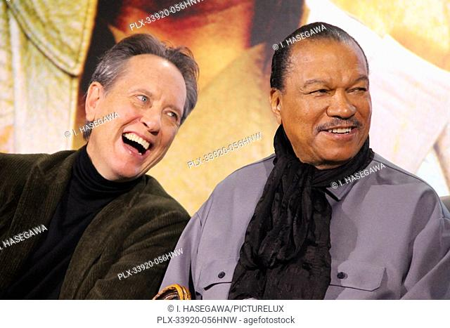 """Richard E. Grant, Billy Dee Williams 12/04/2019 """"""""Star Wars: The Rise of the Skywalker"""""""" Press Conference held in Pasadena, CA. Photo by I"""