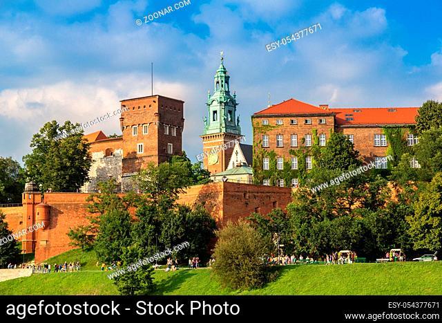 The Wawel castle in Kracow in Poland