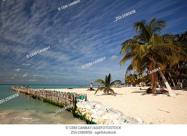 Scene from the beach, Isla Mujeres, Quintana Roo, Yucatan Province, Mexico, Central America