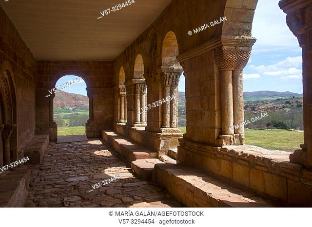 Atrium. Santa Maria de Tiermes church, Tiermes, Soria province, Castilla Leon, Spain
