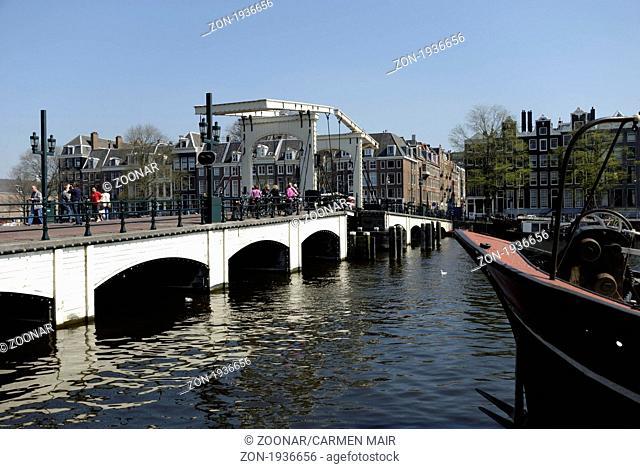 Magere Brug in Amsterdam, Holland
