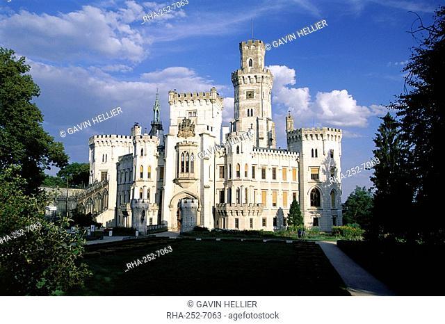 Hluboka Castle, Hluboka, South Bohemia, Czech Republic, Europe