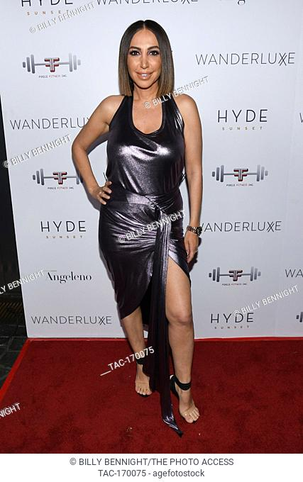 "Diana Madison attends Angeleno Present """"A Toast To The Globes"""" A Pre-Golden Globes Cocktail Celebration at sbe's HYDE Sunset on Saturday January 5,2019"