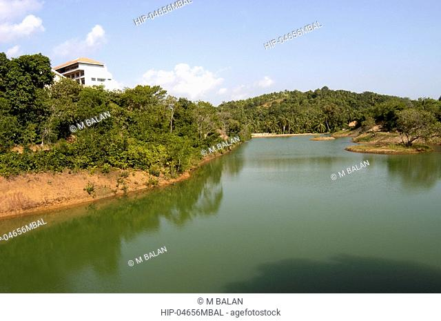 ARTIFICIAL LAKE INSIDE KINFRA FILM AND VIDEO PARK TRIVANDRUM