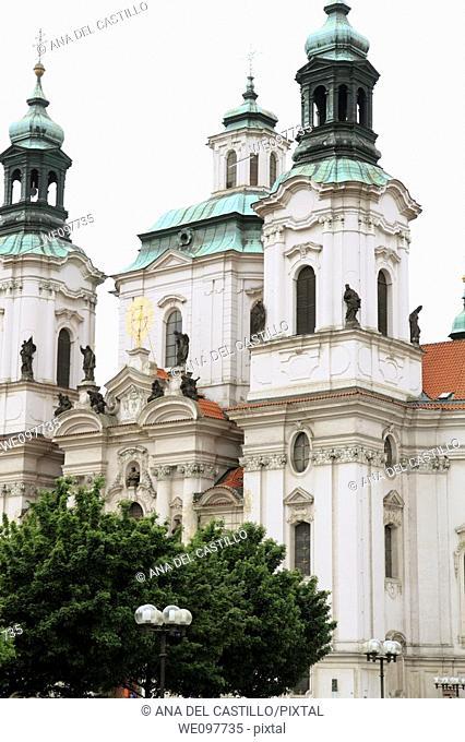Czech republic, Prague, old town, Altstädter ring, church St  Niklas