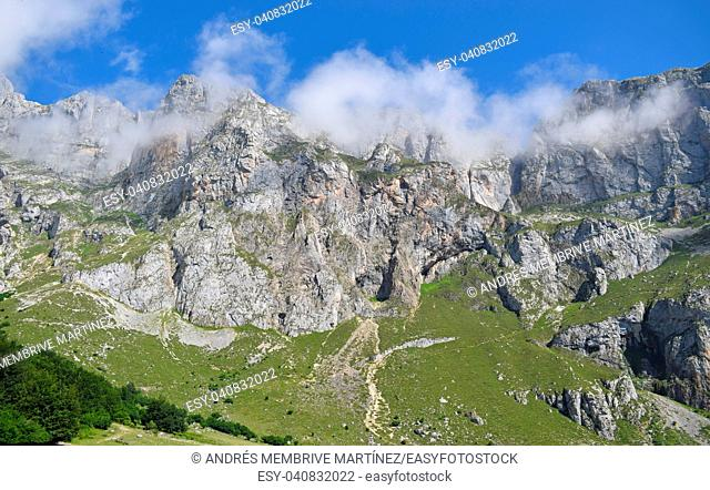 . . . . Landscape of Picos Europa in Asturias Spain