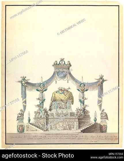 Catafalque of the Empress Catherine the Great of Russia (Side Elevation). Artist: Vincenzo Brenna (Italian, Florence 1745-1820 St