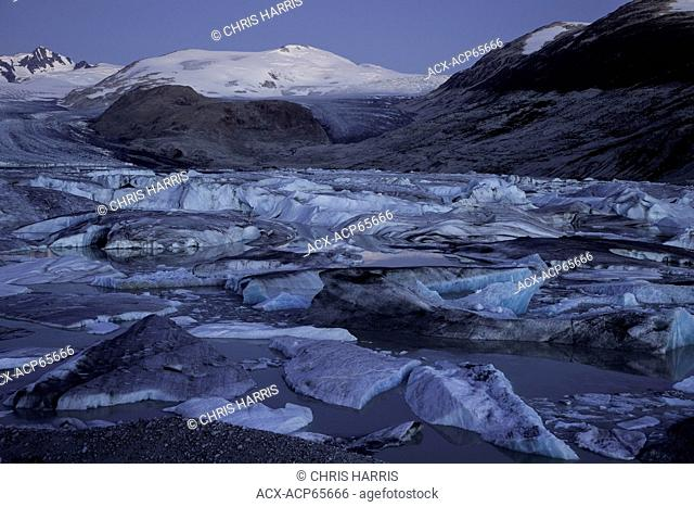 Icebergs, Bridge River Glacier, Chilcotin Ark, Coast Mountains, British Columbia, Canada